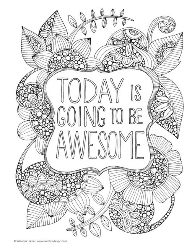 Free-Printable Coloring-Pages-for-Adults-Be-Awesome
