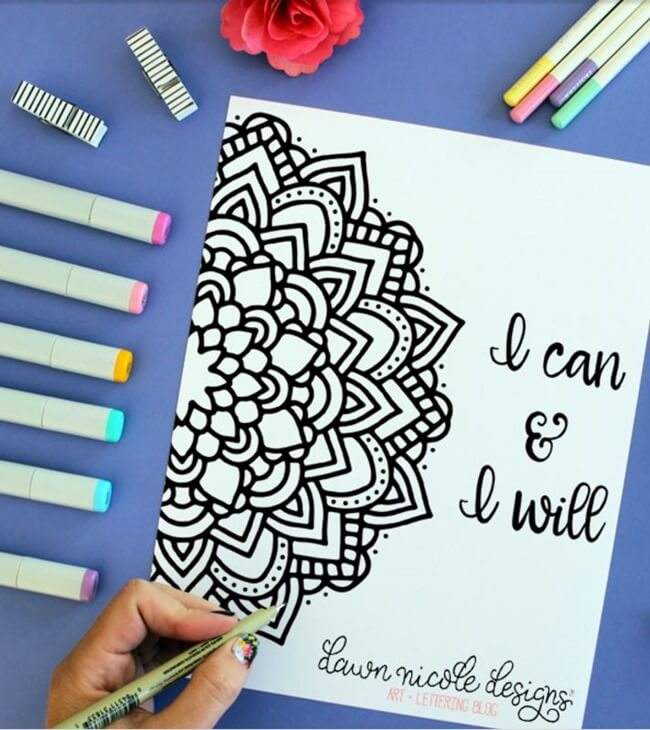 Free-Printable Coloring-Pages-for-Adults-I-Can