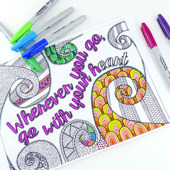 Free-Printable Coloring-Pages-for-Adults-Wherever-You-Go